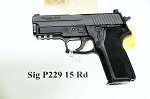Sig Sauer P229 9MM Night Sights 15R Black Finish